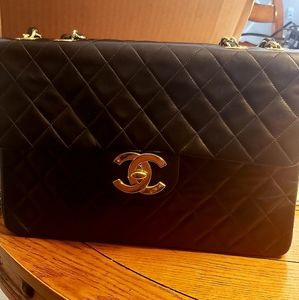 Chanel XL Maxi 24kt gold vintage bag